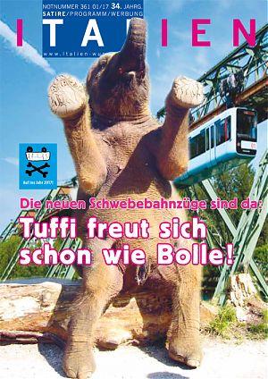 Die neuen Schwebebahnzüge sind da: Tuffi freut sich schon wie Bolle!