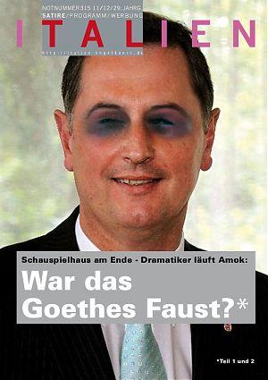 Schauspielhaus am Ende - Dramatiker läuft Amok - War das Goethes Faus?