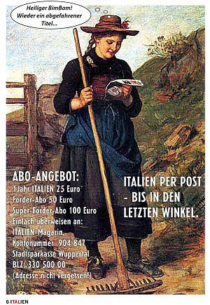 magazin italien aus Wuppertal per Abo-Post hardcover