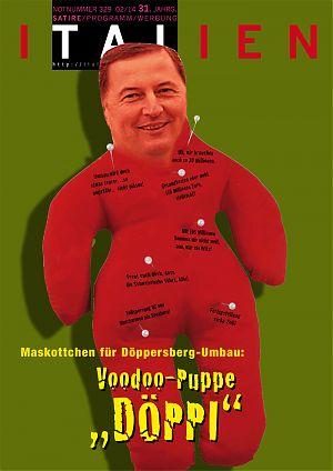 """Maskottchen für Döppersberg-Umbau: Voodoo-Puppe """"Döppi"""""""