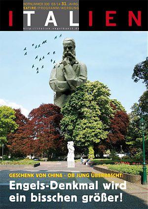 Geschenk von China - OB Jung überrascht: Engels-Denkmal wird ein bisschen größer!